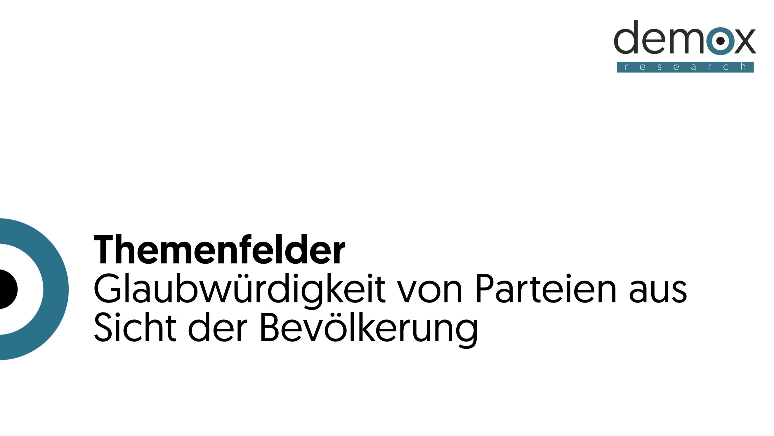Themenfelder - Glaubwürdigkeit der Parteien in Österreich - Demox Research. Marktforschung. Meinungsforschung.