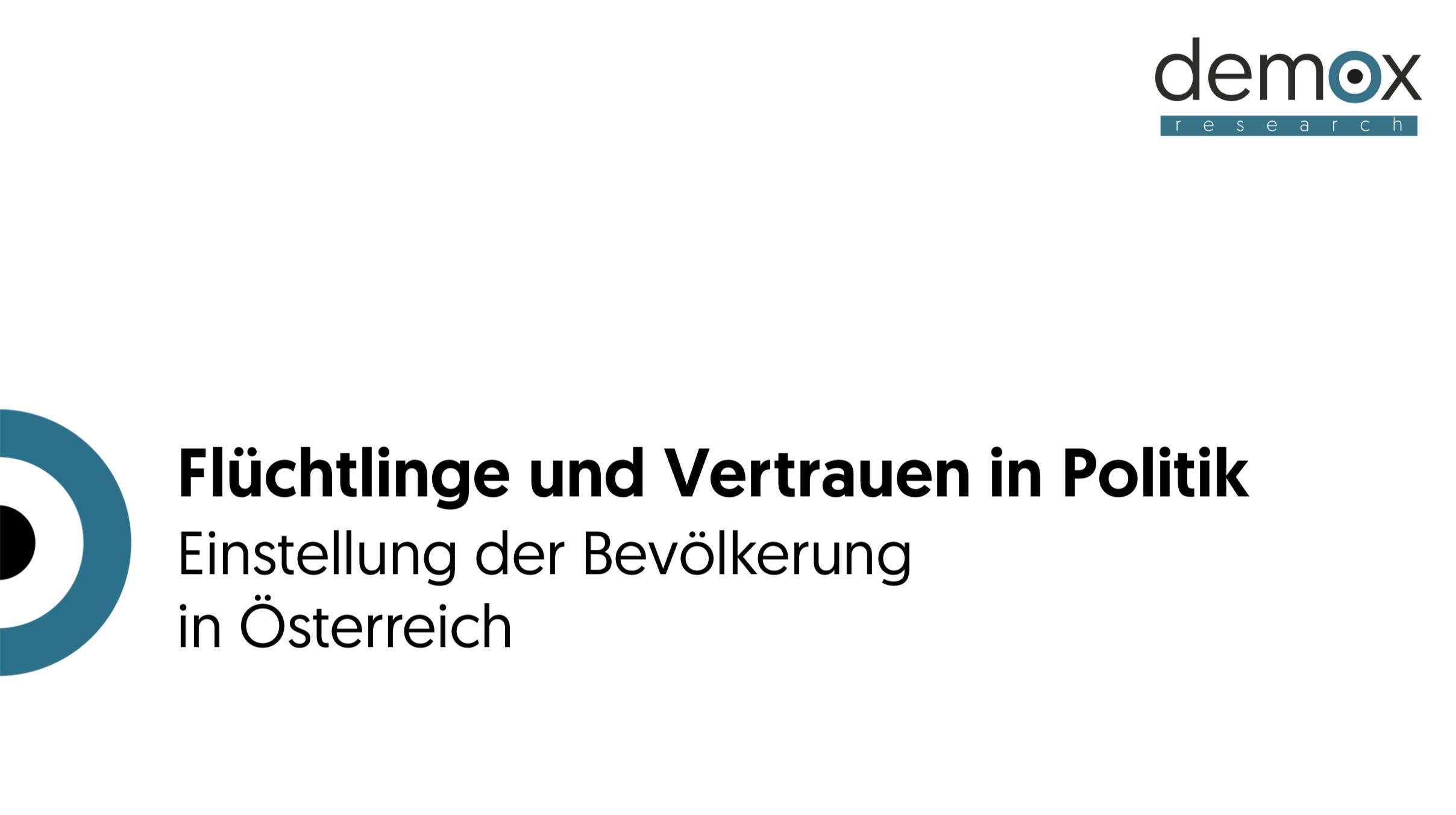 Flüchtlinge, Vertrauen in Politik, Studie - Demox Research. Marktforschung. Meinungsforschung.